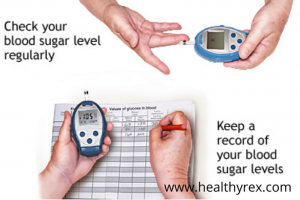 Keep a record of your blood sugar