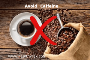 Avoid Caffeine before blood donation
