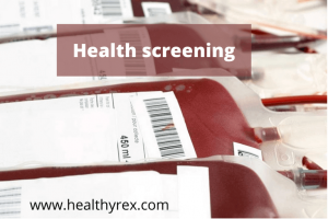 Health screening for blood donation