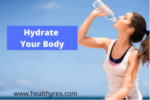 Hydrate your body for blood donation