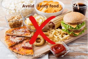 avoid high fat-containing food if you have diabetes